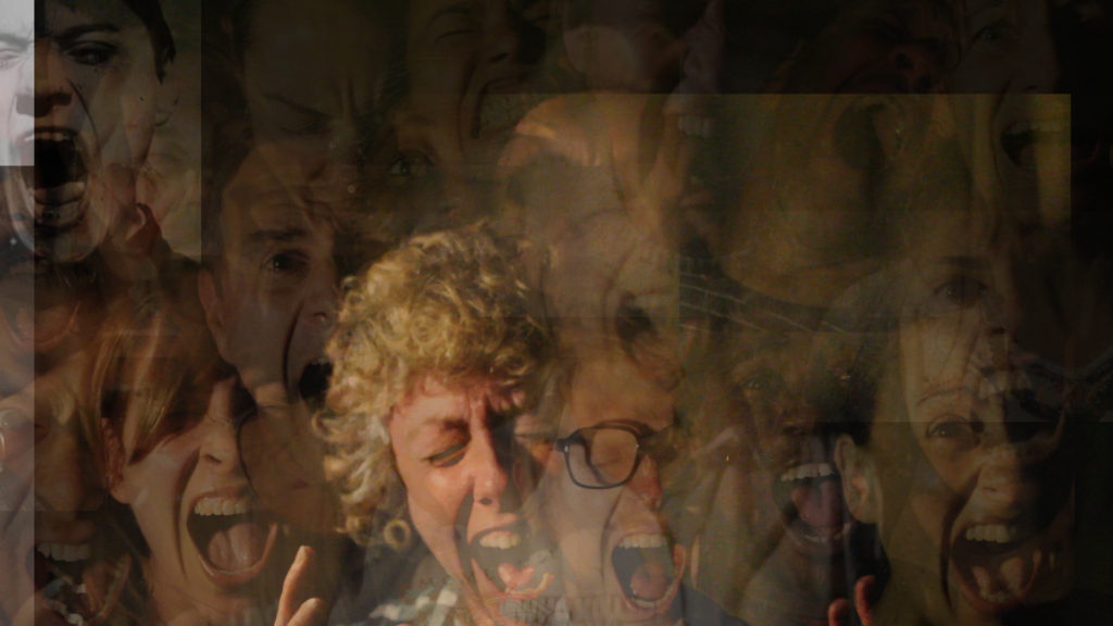 overlayered screaming faces